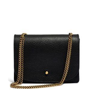 Madewell Crossbody Wallet on Chain Black Gold Bag